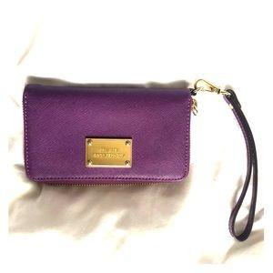 Purple Michael Kors Wristlet Wallet